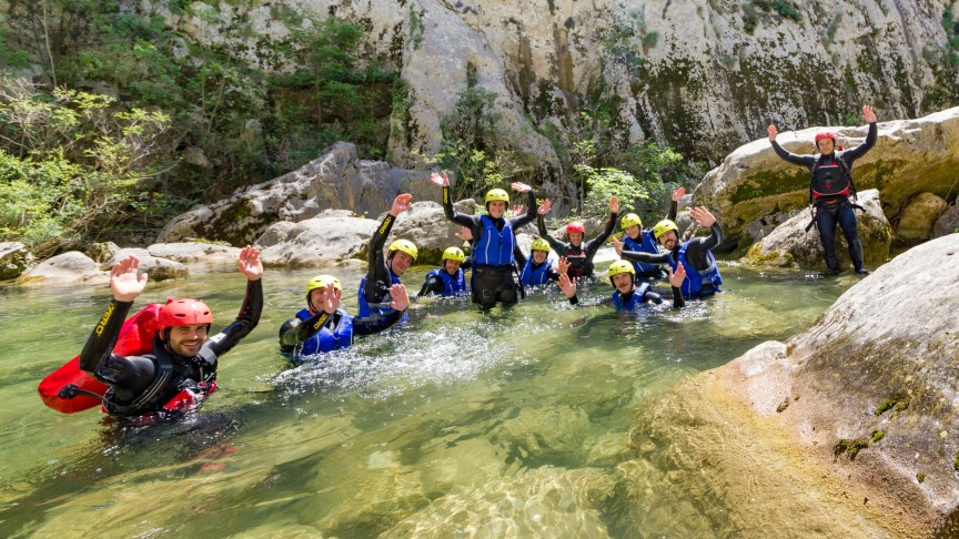 Extreme canyoning Split Cetina river We Adventure