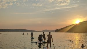 We adventure Marjan hill sunset paddle board tour