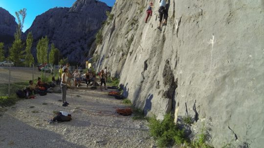 We adventure Climbing Omiš tour
